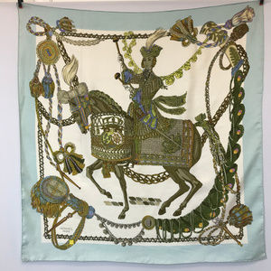 HERMES Scarf Le Timbalier By Francoise Heron 1961